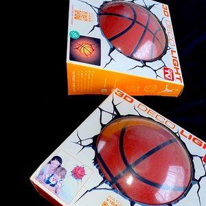 3D decor light basketball